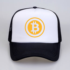 New Men Women Trucker Cap Hat BitCoin Bit Coin Mining Funny Baseball caps  Summer Hip Hop Mesh Cool Caps Hat for Youth