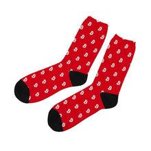 Load image into Gallery viewer, 1 Pair New Cotton Dress Socks Mens Bitcoin Dollar Sign Printed Funny Sock Breathable Cool Max Long Socks Cheap Hosiery