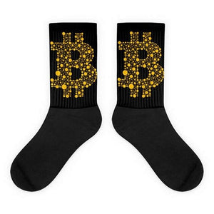 1 Pair New Cotton Dress Socks Mens Bitcoin Dollar Sign Printed Funny Sock Breathable Cool Max Long Socks Cheap Hosiery
