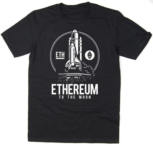 2019 Hot sale Free shipping Ethereum To The Moon T-Shirt - BTC ETH $ETH Bitcoin Crypto - 6 colours