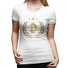Load image into Gallery viewer, We Accept Bitcoin T-Shirt Bitcoin T Shirt Black Plus Size Women tshirt Short-Sleeve Street Wear Cotton O Neck Ladies Tee Shirt