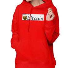 Load image into Gallery viewer, We Accept Bitcoin Hoodie We Accept Bitcoin Hoodies Printed Long Sleeve Hoodies Women Gray Street wear Cotton Pullover Hoodie
