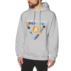 Digital Currencies In Triangle Hoodies Bitcoin Hoodies For Male Streetwear Tee Cotton Top design