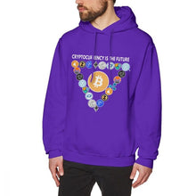 Load image into Gallery viewer, Digital Currencies In Triangle Hoodies Bitcoin Hoodies For Male Streetwear Tee Cotton Top design