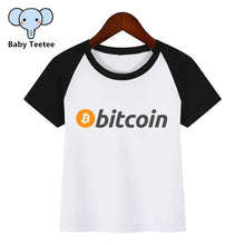 Load image into Gallery viewer, Boys and Girls Anime Currency Bitcoin Logo Print T Shirt Baby Kids Funny Clothes Chirden Summer T-shirt