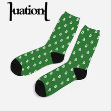 Load image into Gallery viewer, 2019 New Men Cotton Bitcoin Dollar Printed Crew Socks Compression Combed CoolMax Dress Sock Mens Breathable Happy Socks