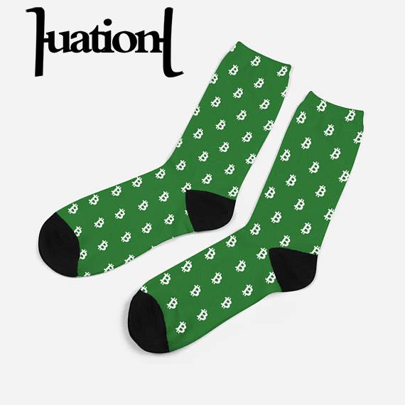 2019 New Men Cotton Bitcoin Dollar Printed Crew Socks Compression Combed CoolMax Dress Sock Mens Breathable Happy Socks