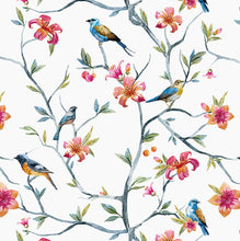 Load image into Gallery viewer, Customise Colour: Floral Bird Wallpaper