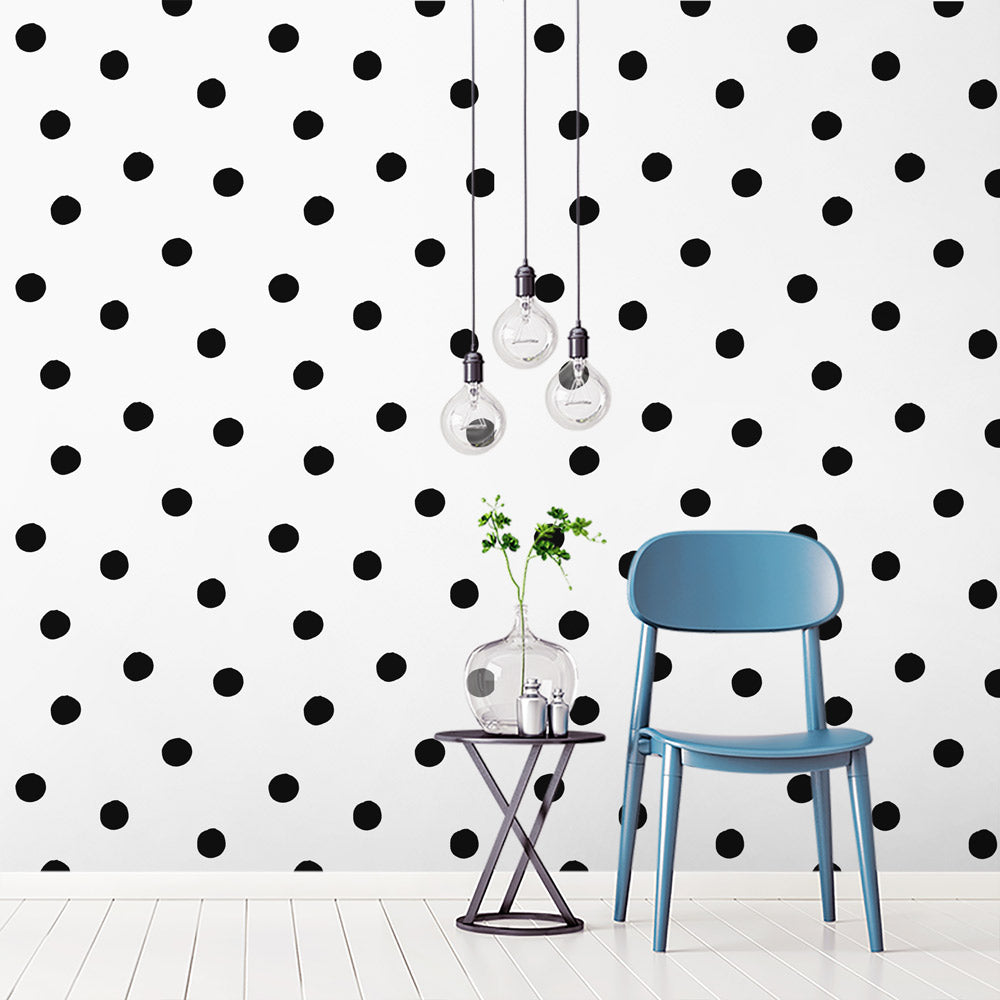 Customise Colour: Polka Dot Wallpaper