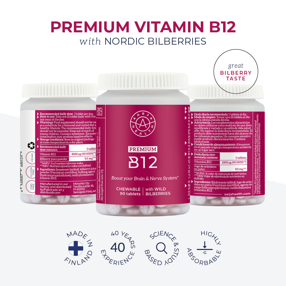 Aarja's Premium B12 - High Quality, Made in Finland