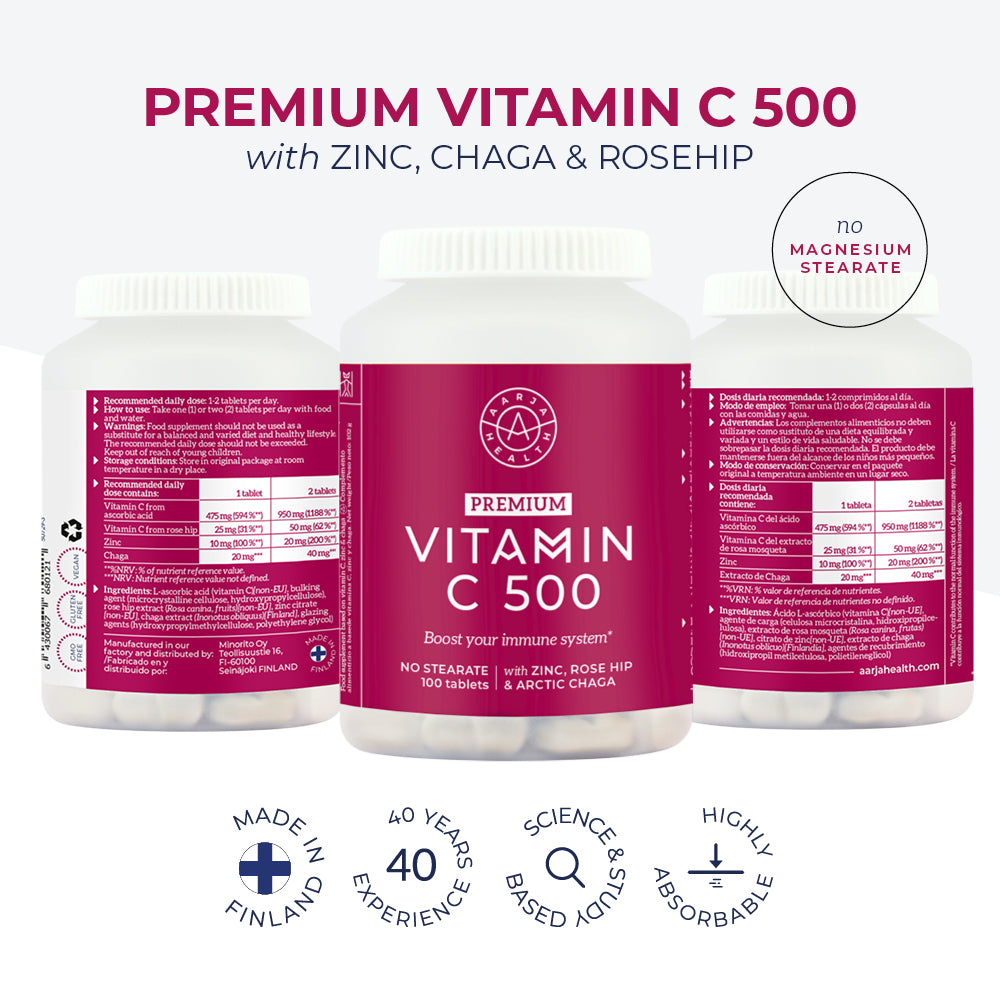 Load image into Gallery viewer, VITAMIN C 500 with Zinc & Chaga