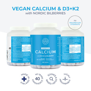 CALCIUM, D3 + K2 with Bilberry