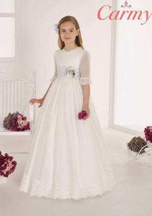 Communion Dress Style 105-Elliott Chambers - Dundrum-ELLIOTT CHAMBERS DUNDRUM COMMUNION DRESSES 2021