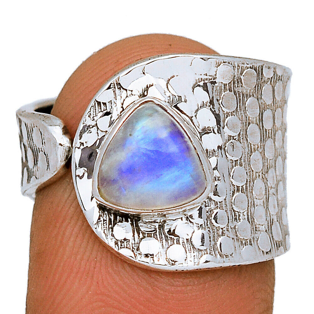Moonstone - Sterling Silver Jewelry Ring