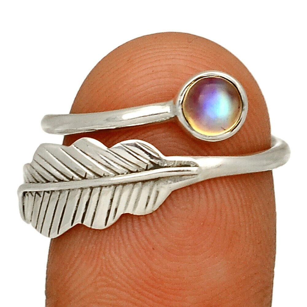 Eagle Feather Moonstone Ring