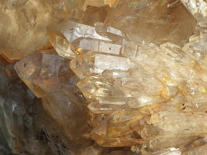 Natural Citrine Quartz Crystal Cluster