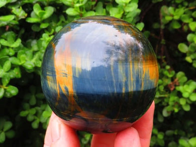 Polished Blue and Gold Tigers Eye Ball