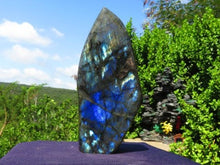 Load image into Gallery viewer, Polished Labradorite Standing Display Freeform