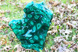 Magnificent Very Large Malachite Polished Specimen Display Piece
