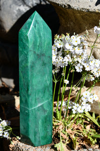 Polished Swazi Jade Standing Display Crystal