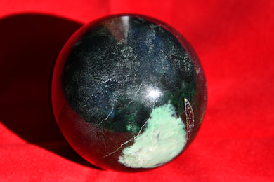 Very Rare Tranvaal Jade Ball showing the green.