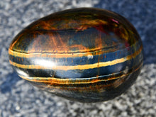 Load image into Gallery viewer, Polished Blue and Gold Tigers Eye Egg