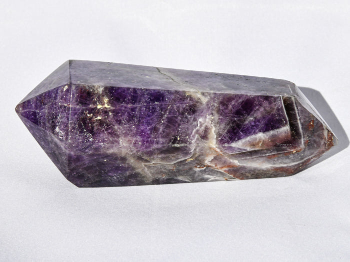 Polished Double Terminated Amethyst Quartz Crystal
