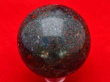 Load image into Gallery viewer, Polished Bloodstone Ball.