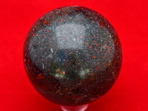 Polished Bloodstone Ball.