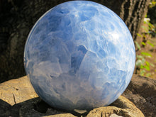 Load image into Gallery viewer, Blue Calcite Polished Ball to calm and reduce stress