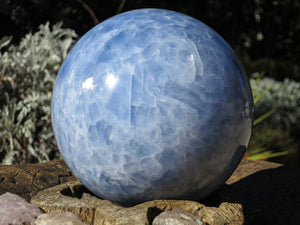 Blue Calcite Polished Ball to calm and reduce stress