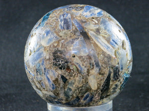 Polished Blue Kyanite Conglomerate Sphere 67mm dia. 0.384grams. Zimbabwe