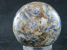 Load image into Gallery viewer, Polished Blue Kyanite Conglomerate Sphere 67mm dia. 0.384grams. Zimbabwe