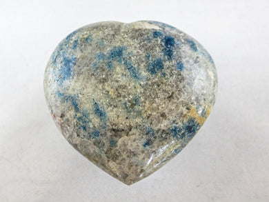 Polished NEW Blue Spinal in Quartz Gemstone Heart