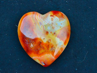 Large Carnelian Polished Heart