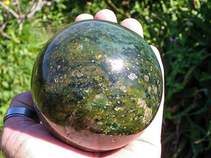 Green Opal Polished Ball, a world in your hand