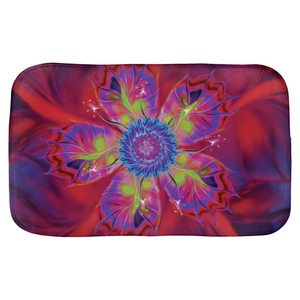 Dancing Star Flower Red (Bath Mat)