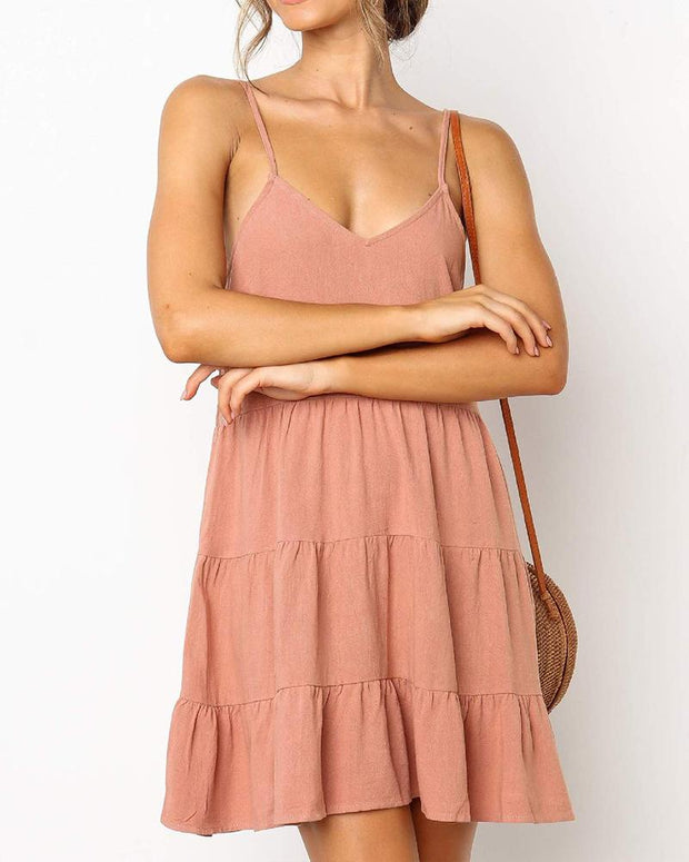 Ruffled Cami Mini Dress
