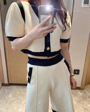 Contrast Trim Top & Pants