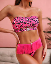 Leopard Two-Piece Bandeau Bikini