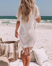 Crochet Tassel Hem Cover-Up
