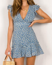 Floral Ruffle Mini Dress