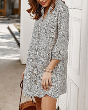 Dalmatian Button Up Mini Dress