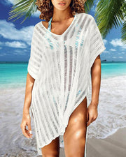 Striped Crochet Cover-Up