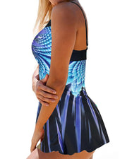 Gradient Color Print Tankini Swimsuit