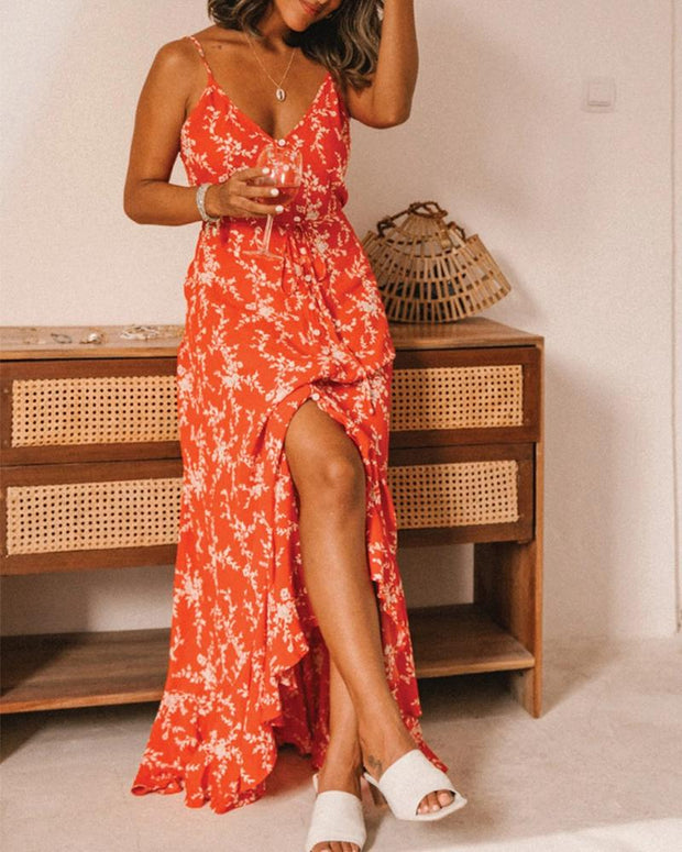 Boho Spaghetti Strap Maxi Dress