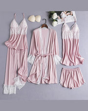 Satin 5Pcs Cami Pajama Set