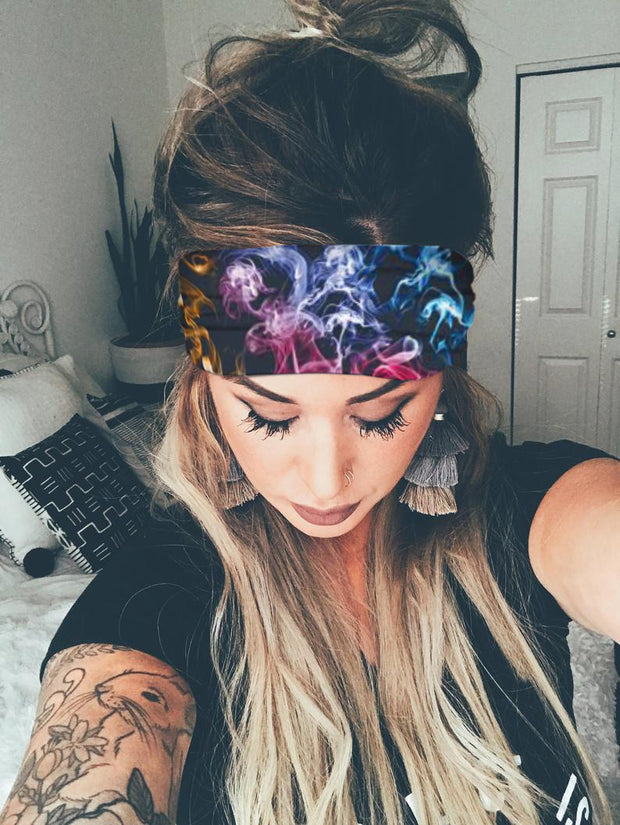 Print Yoga Workout Elastic Headwraps Hair Band
