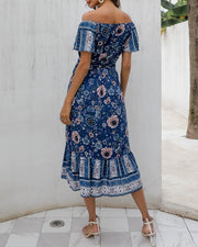 Floral Off Shoulder Tube Dress