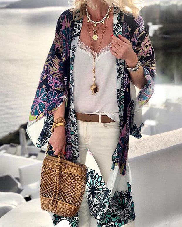 Floral Print Swim Cover-Up